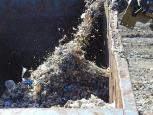 Shredded waste for use in test burn